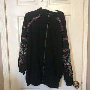 Forever 21 Embroidered Blazer Sweatshirt